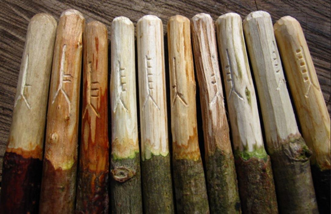 Ogham sticks