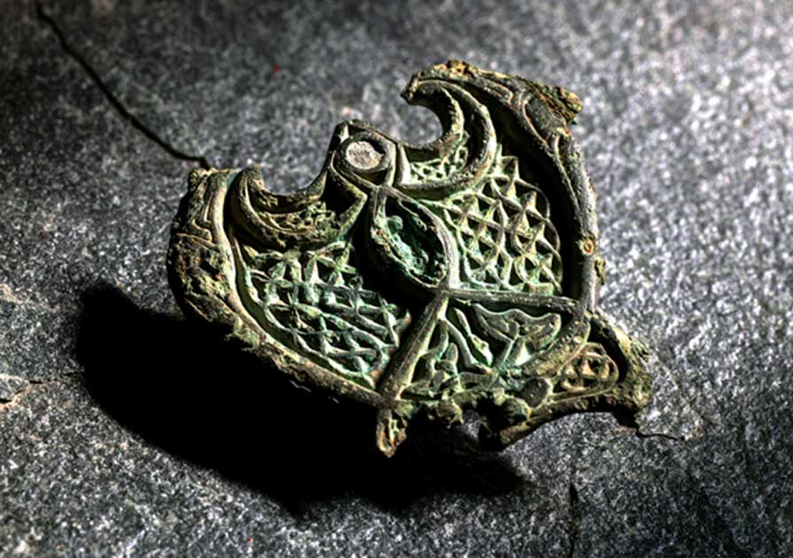 The Celtic harness found buried with a Viking woman in Norway (Photo: Åge Hojem / NTNU Museum of Natural History and Archaeology)
