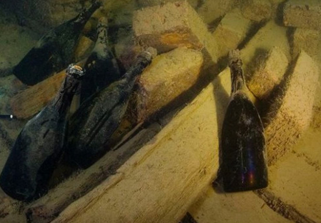 170-Year-Old Champagne Found in Shipwreck