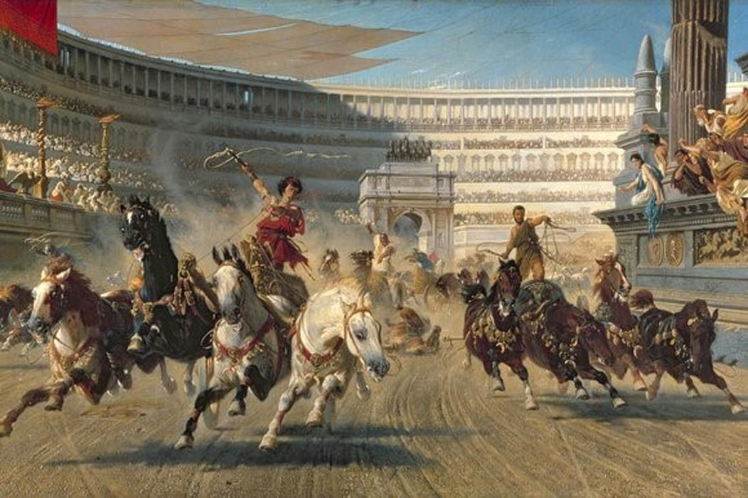 This post prompted me to look up what chariot racing in Rome looked like and it's bad ass.