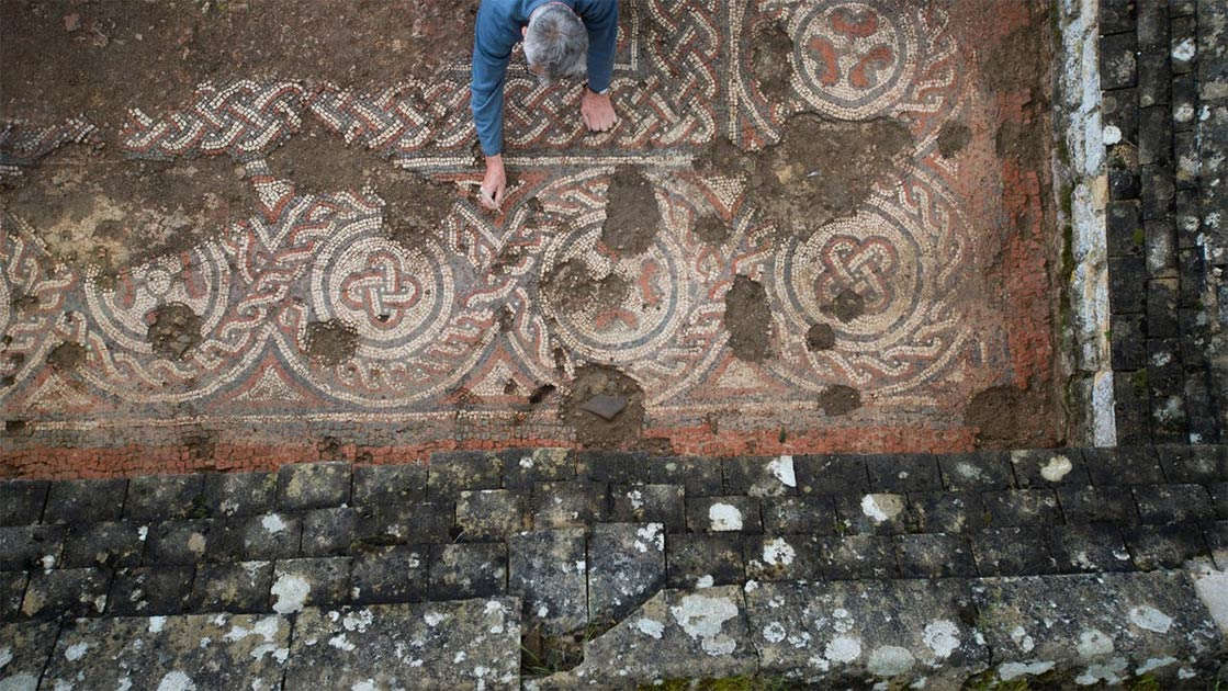 New Date for Chedworth Roman Villa Mosaic Changes English History