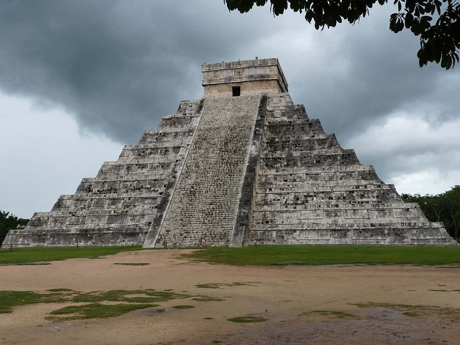 Original pyramid found underneath two outer pyramids at Chichen Itza in Yucatan
