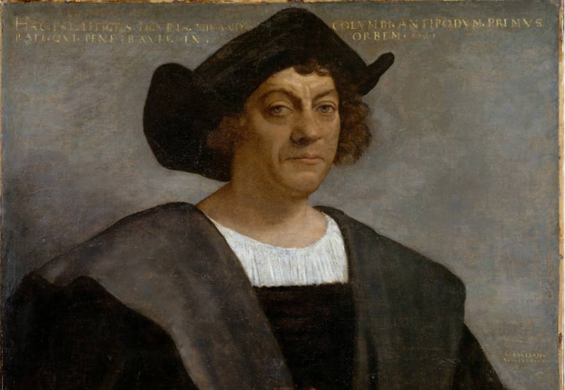 Posthumous portrait of Christopher Columbus by Sebastiano del Piombo, 1519.
