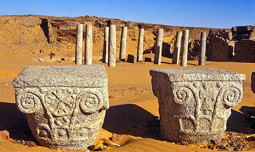 Ruins of the Church of the Granite columns, Old Dongola, Sudan