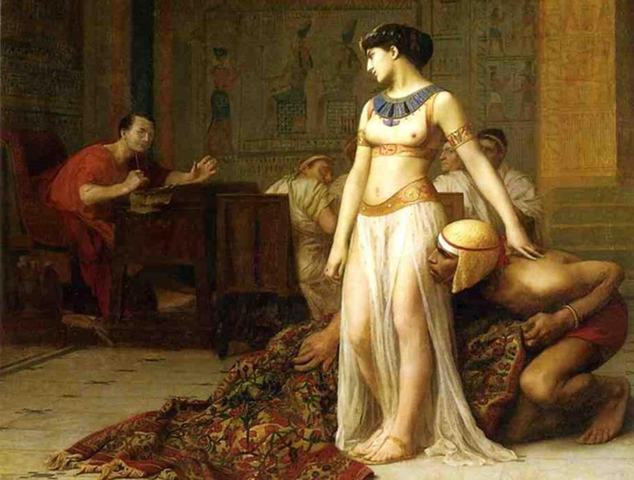 Cleopatra and Caesar (1866). Painting by Jean-Léon Gérôme.