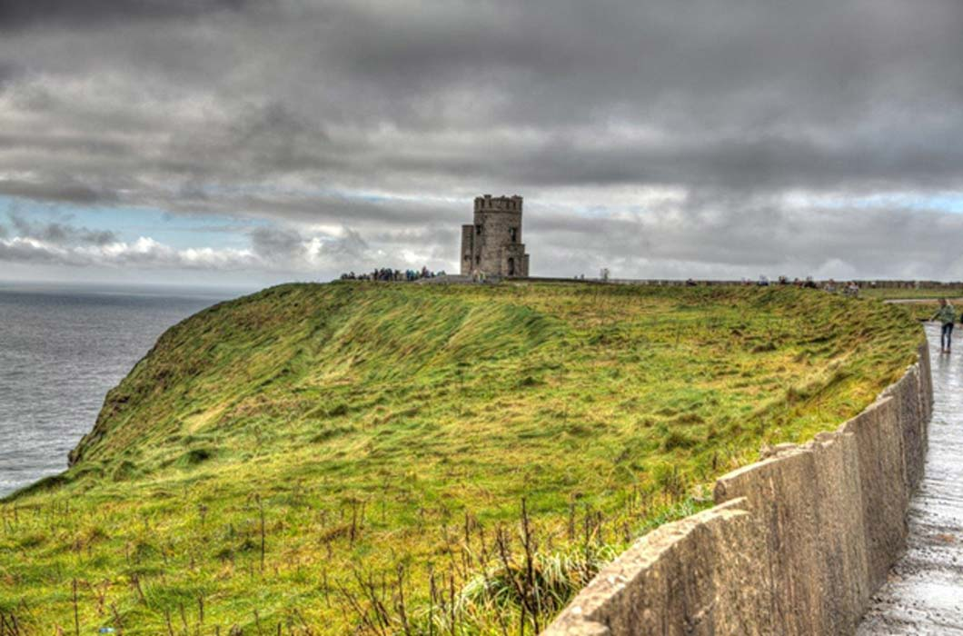 on the cliffs of moher sits o brien s tower a land where legends