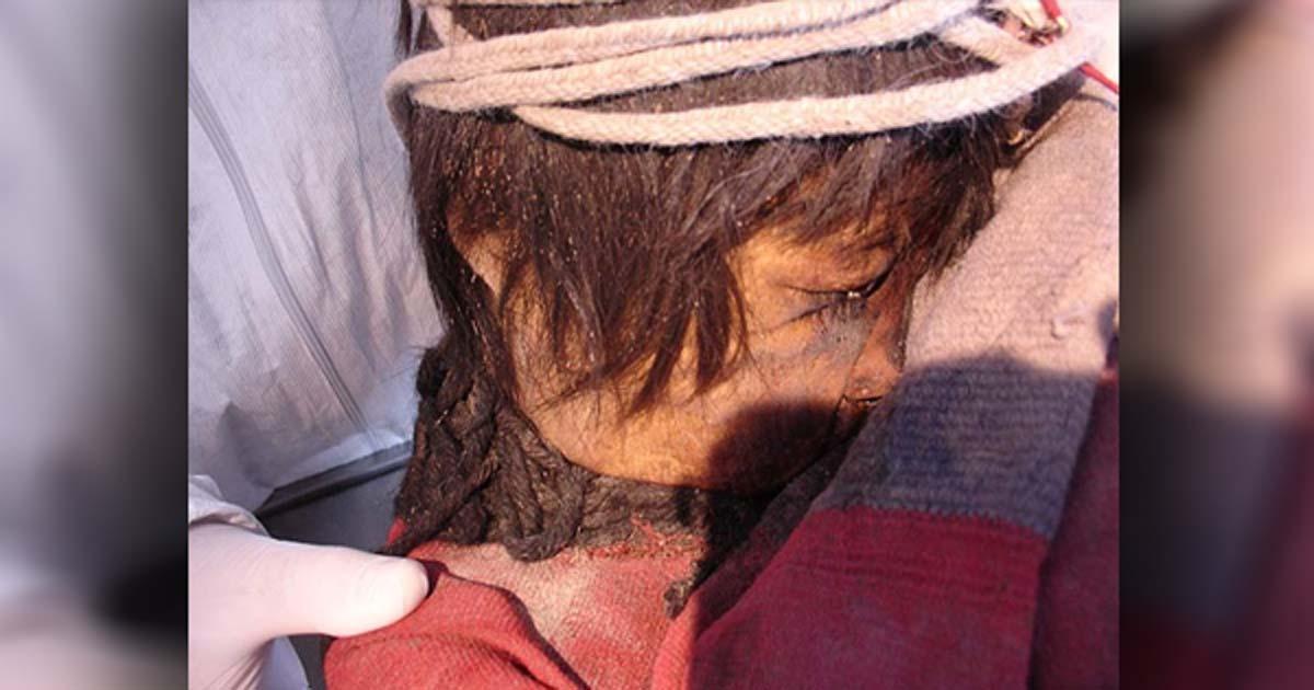 Llullaillaco boy's mummy in Salta Province, Argentina.
