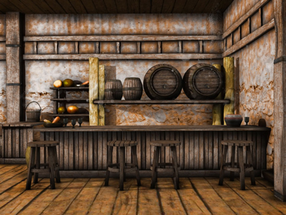 Illustration of an old tavern. Credit: Chorazin / Adobe Stock