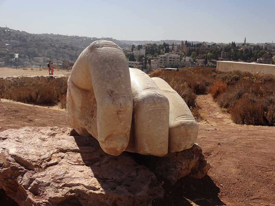 A photo of the Hand of Hercules.