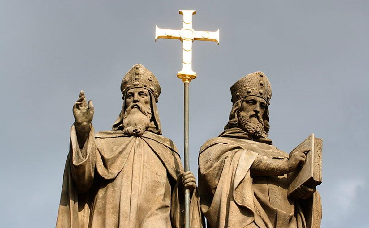 Top of Statue of Saints Cyril and Methodius