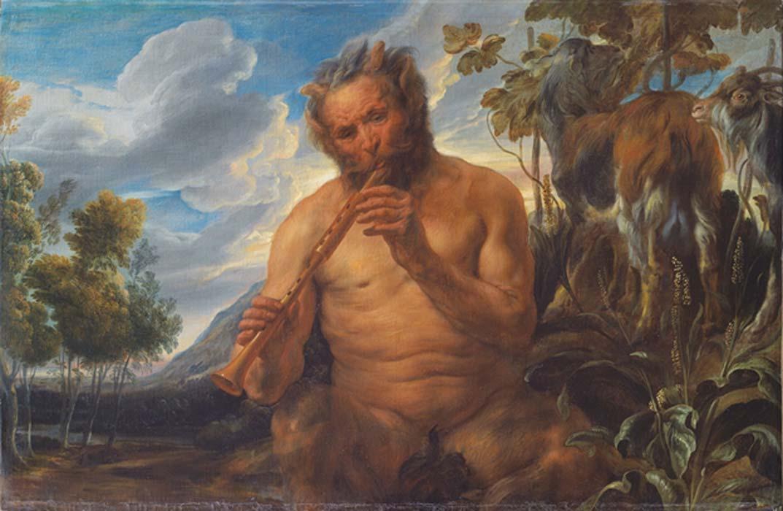 Satyr Playing the Pipe (Jupiter's Childhood) (fragment) Jacob Jordaens 1639