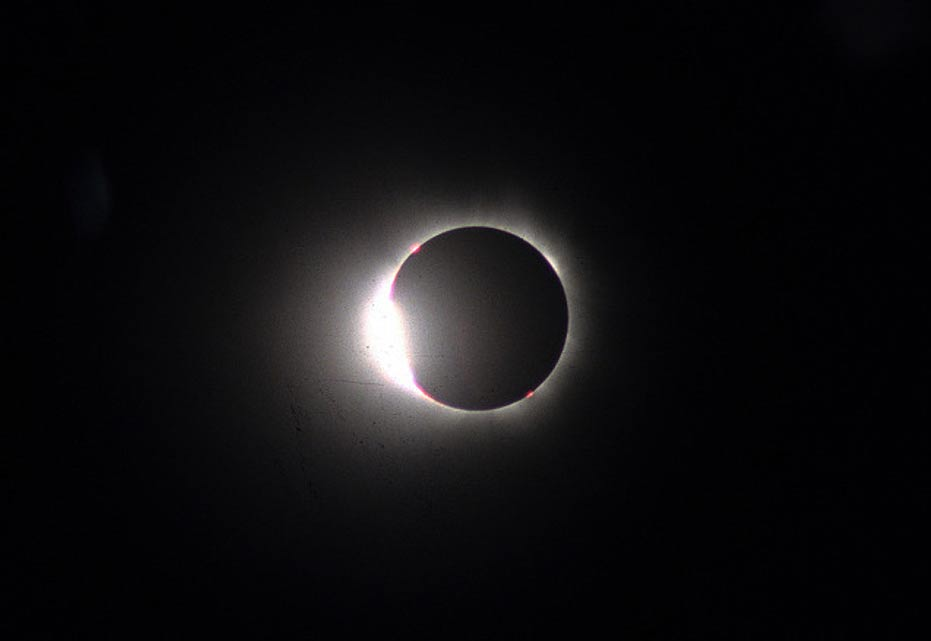 """Diamond Ring"" effect of a total solar eclipse. Aug. 11, 1999 in Bulgaria."