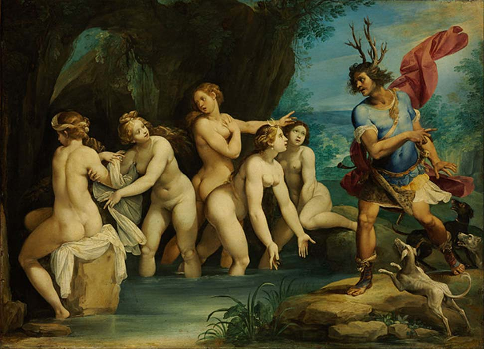 'Diana and Actaeon' (1602-1603) by Giuseppe Cesari.