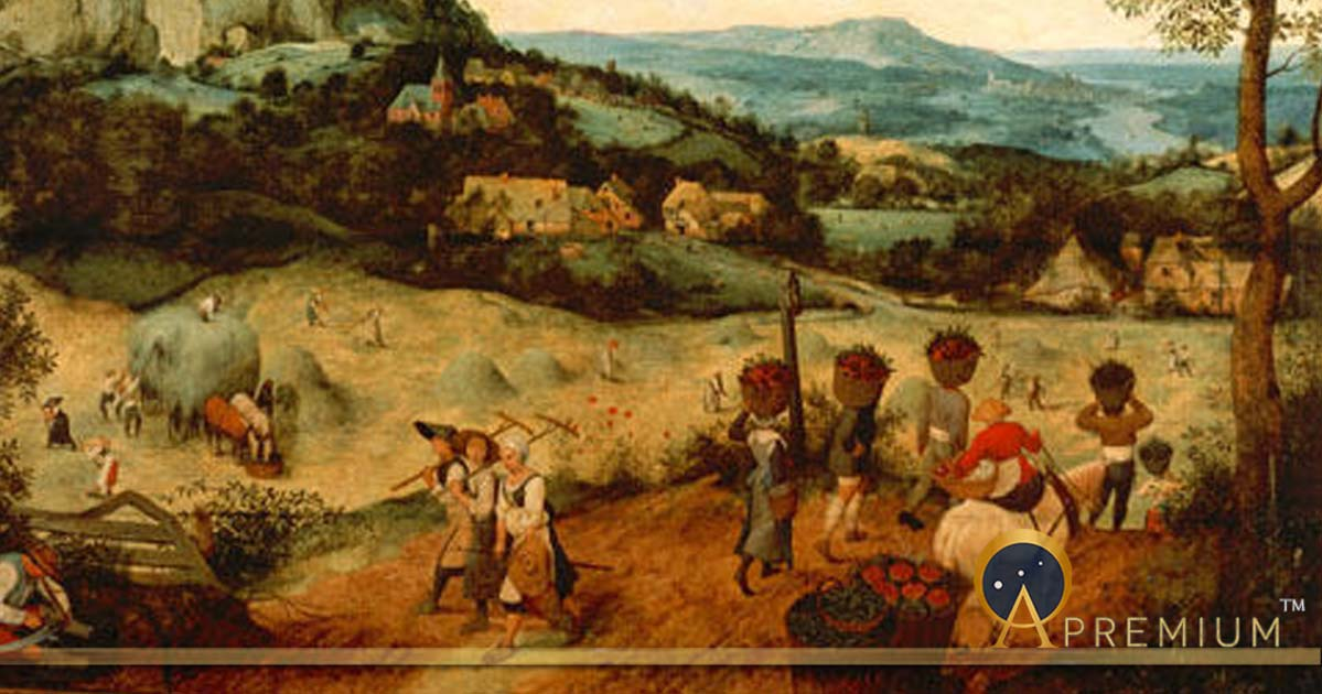 The Hay Harvest (1565), National Museum (Prague), Lobkowicz family collection in Lobkowicz Palace  by Pieter Brueghel the Elder