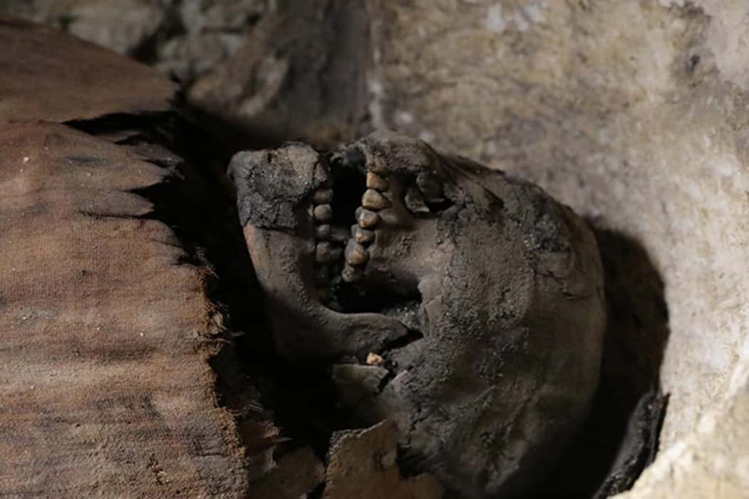 One of the mummies found in the Tuna El-Gebel burial site.