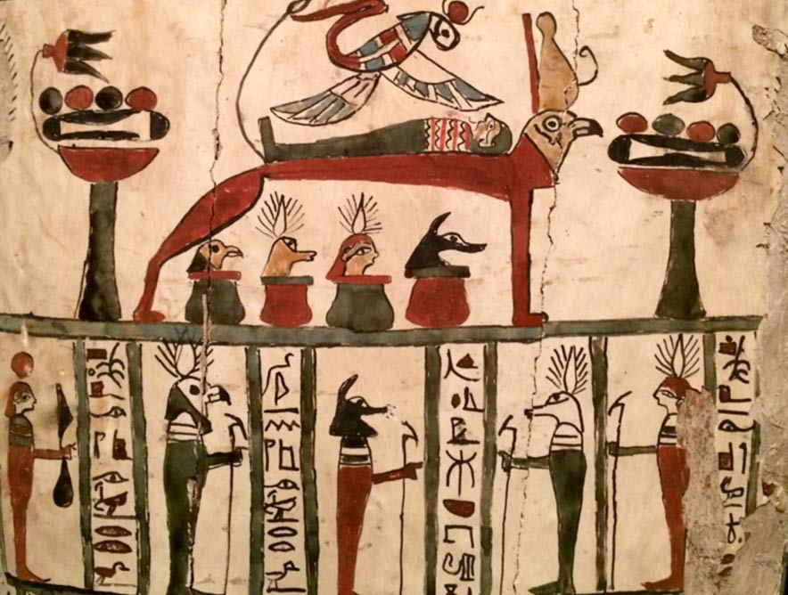 2,400-year-old Egyptian coffin with amateurish images
