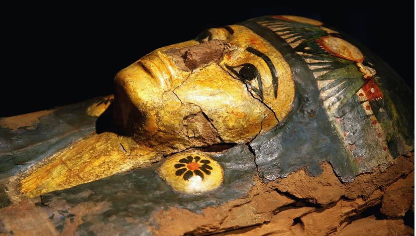Egyptian mummy mask