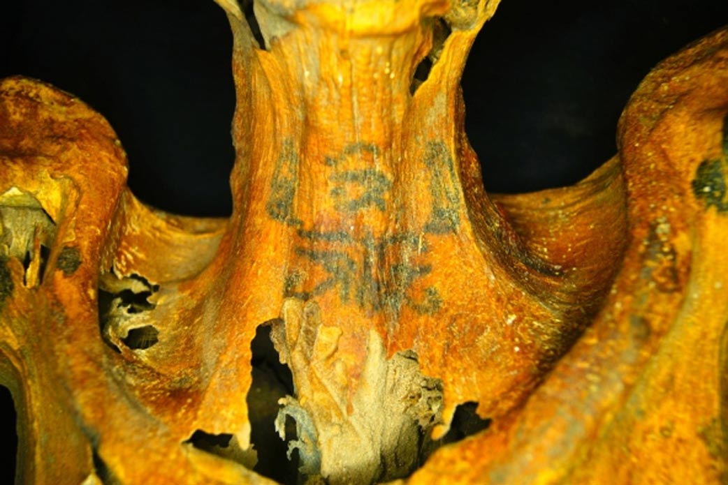 Leaving a mark unique and elaborate tattoos on 3 000 year for Egyptian mummy tattoos