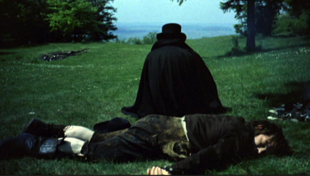 Screen shot from the film 'Enigma of Kaspar Hauser' (1974).