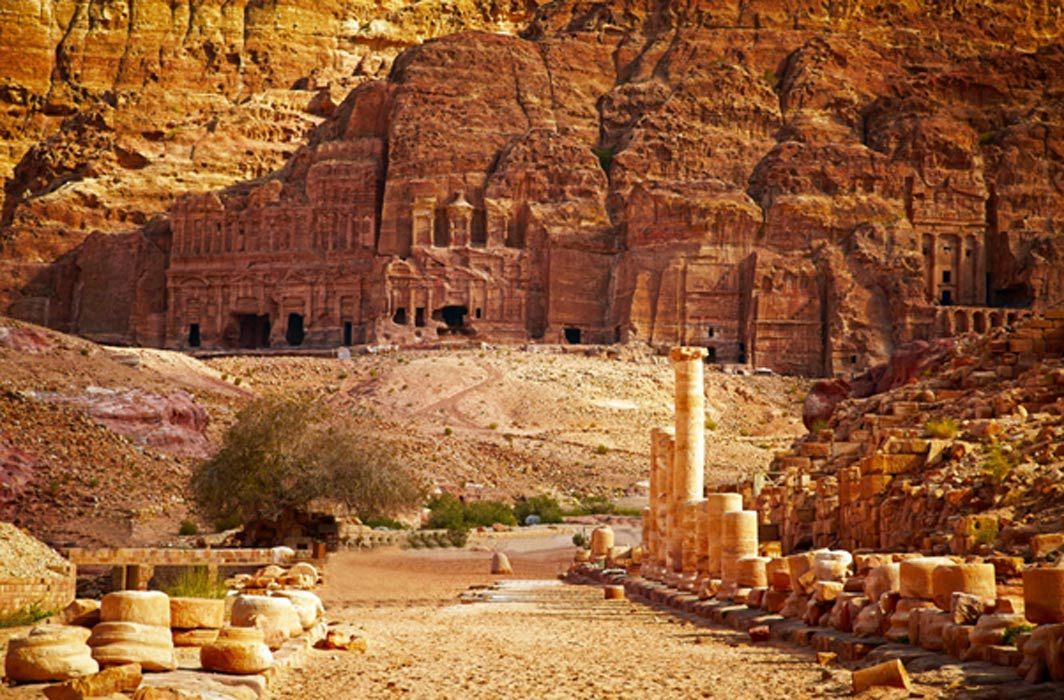 The magnificent ancient city of Petra, Jordan.