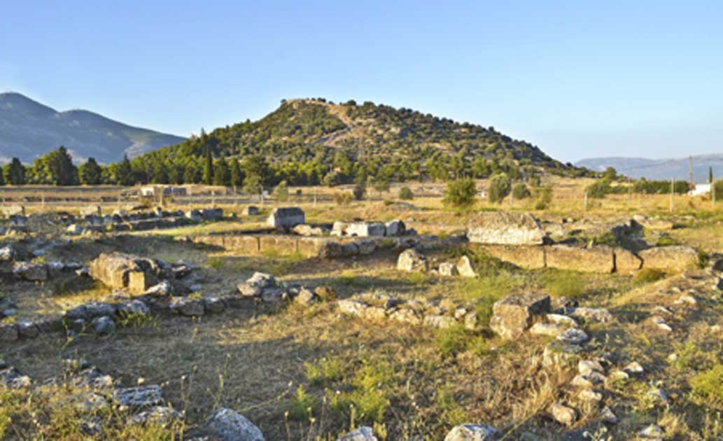 Landscape of the ancient city of Eretria, Euboea, Greece. Source: photo_stella / Adobe Stock