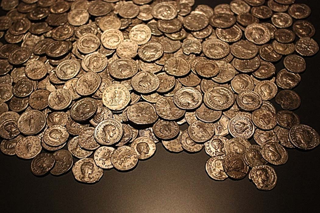 Representational image of Roman gold coins.