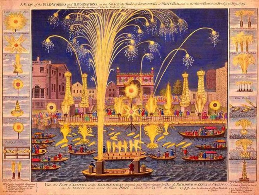 Fireworks on the River Thames