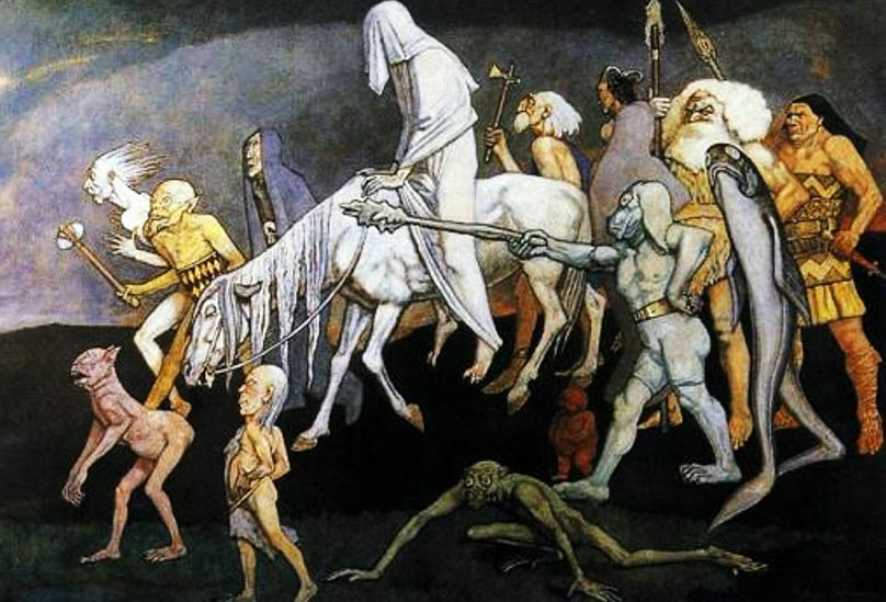 The Fomorians as depicted by John Duncan, 1912.
