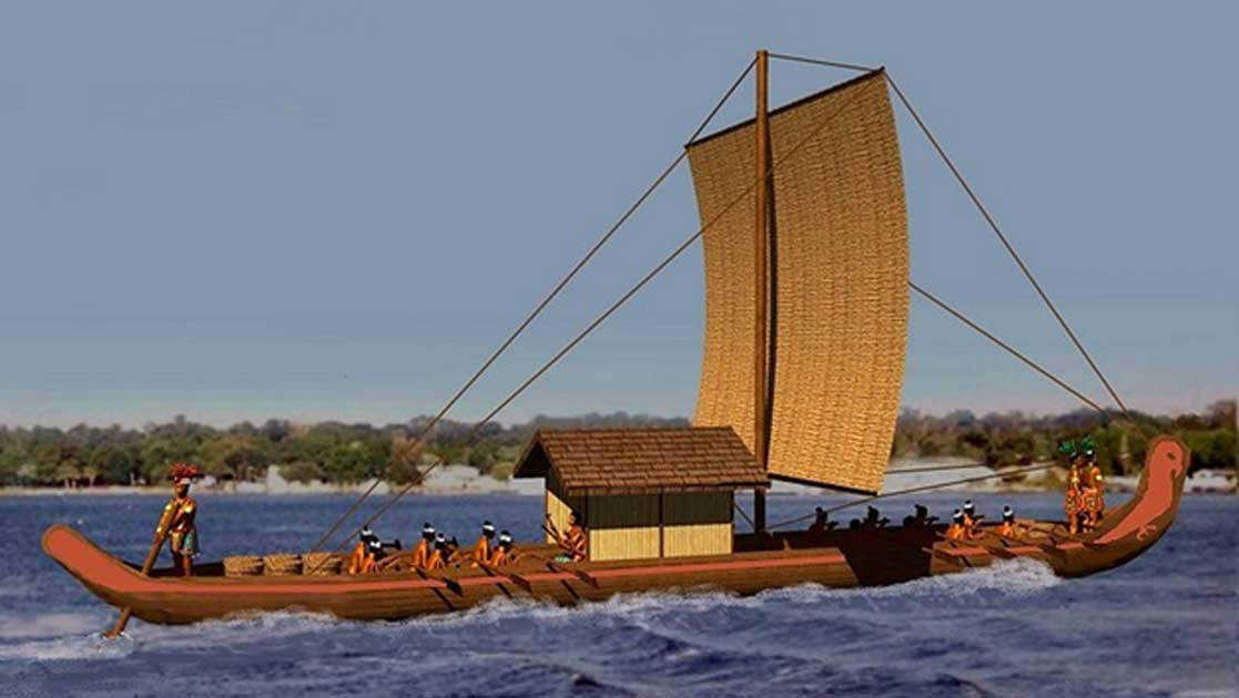 A Chontal Maya sea craft.