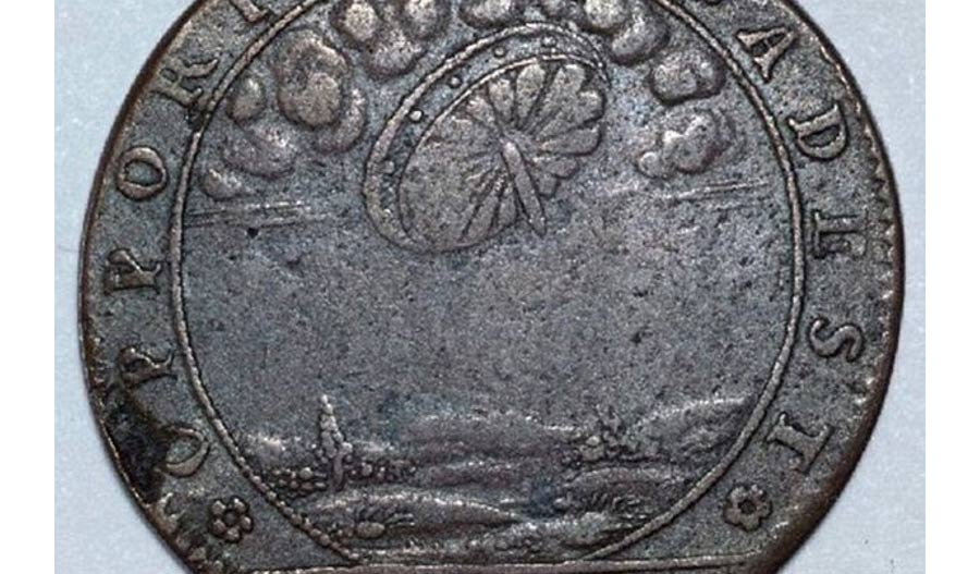 A French jeton minted between 1856 to 1680, which some say provides evidence for UFO sightings at that time.