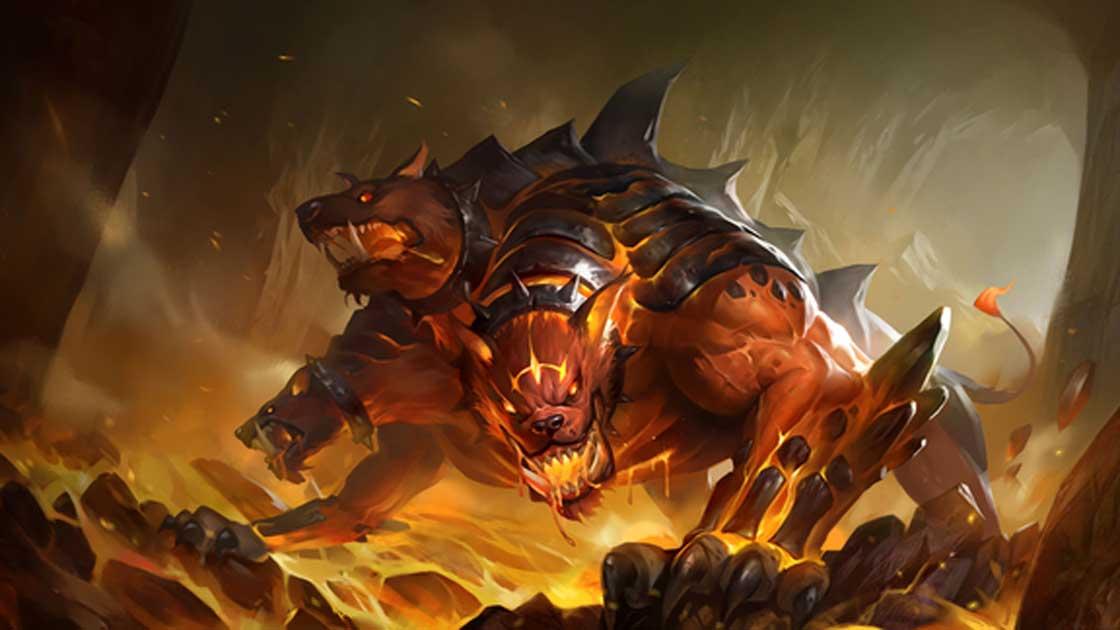 A modern depiction of the hellhound Cerberus.