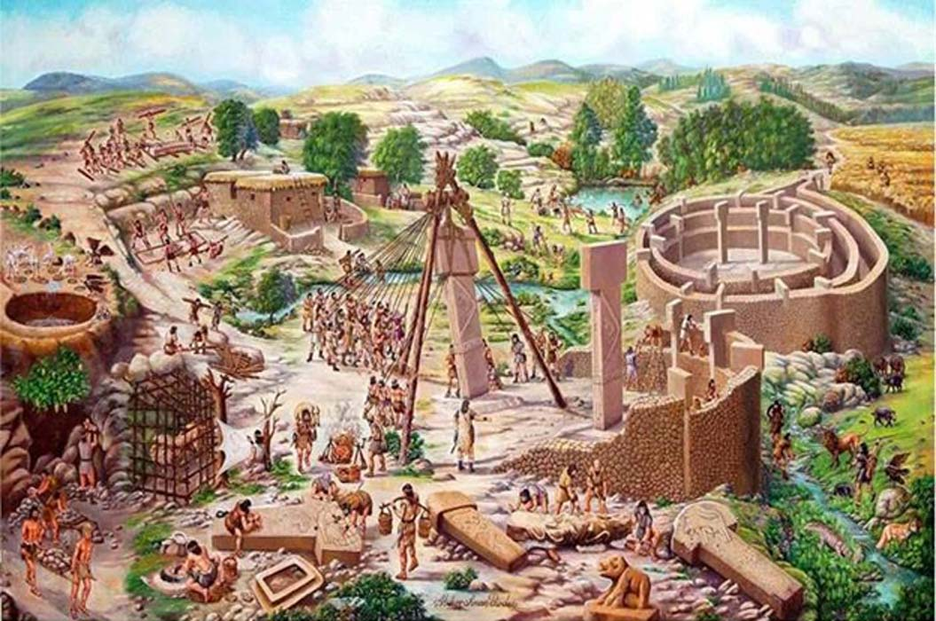Artist's reconstruction of Göbekli Tepe.
