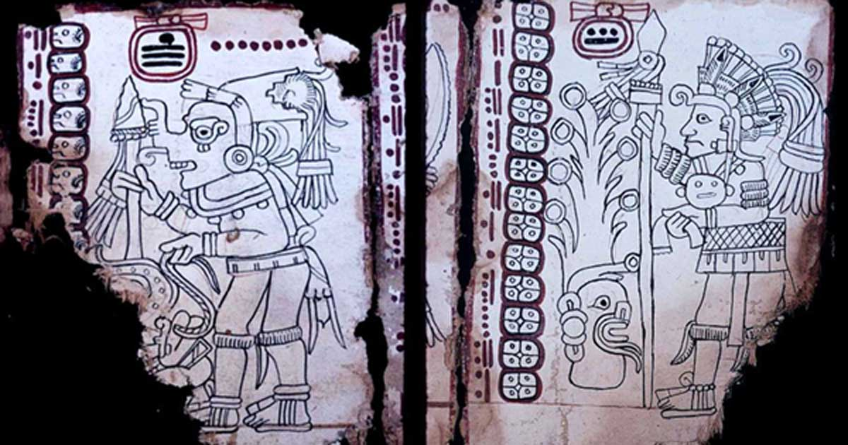 Left; Grolier Codex, Page 4. Right; Grolier Codex, Page 7.        Source: Left; Public Domain  Right; Public Domain