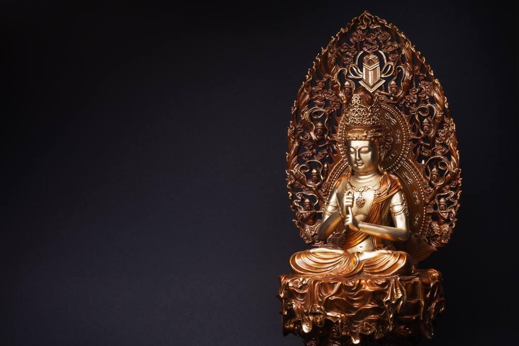 Bronze statue of Bodhisattva Guan Yin