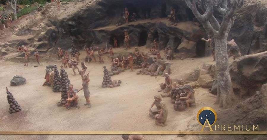 Reconstruction of a Guanche settlement of Tenerife. (CC BY-SA 3.0)