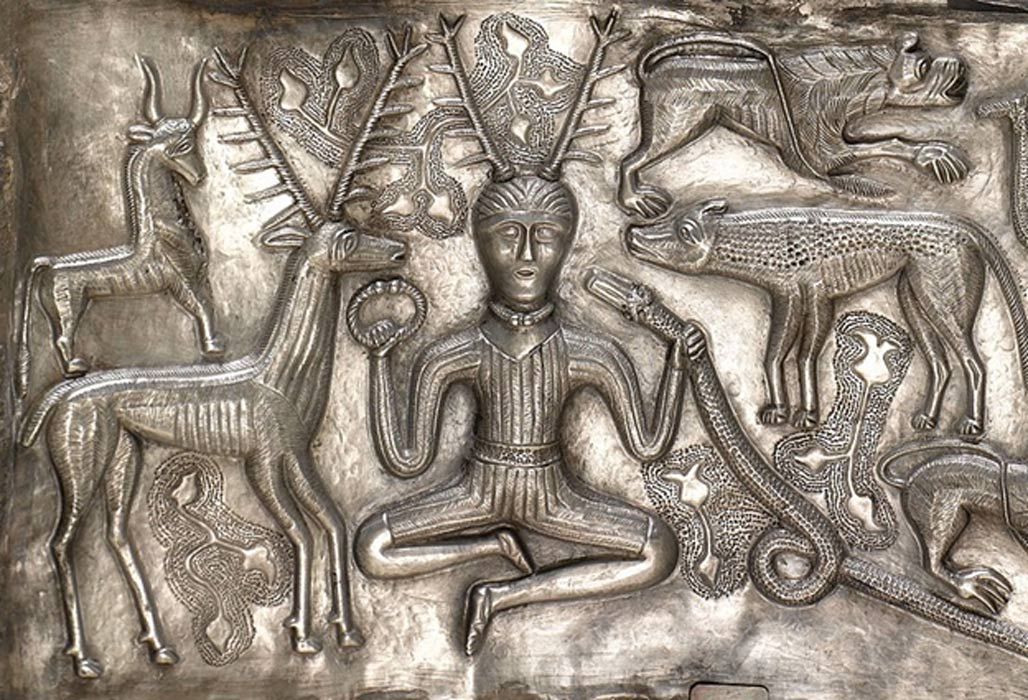 Horned figure on the Gundestrup Cauldron