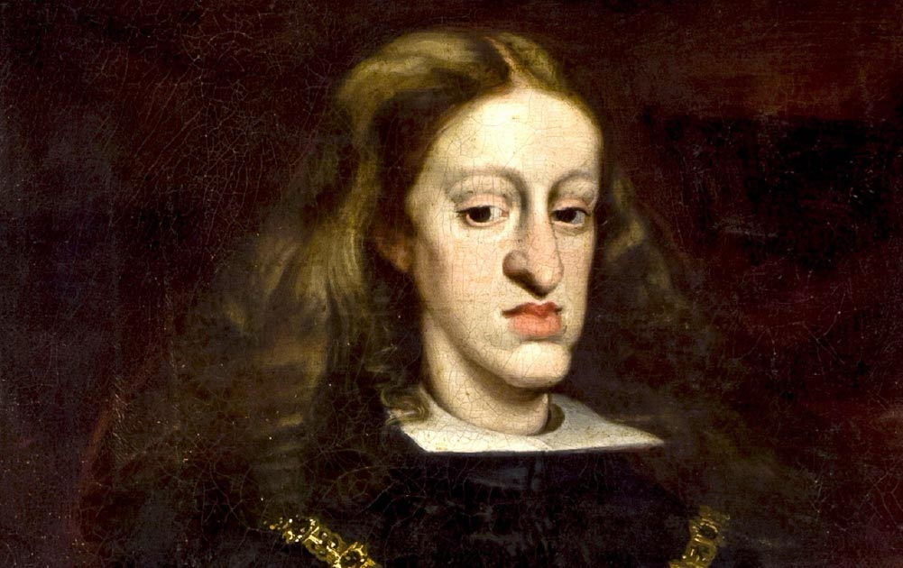King Charles II of Spain, was the last Habsburg ruler of the Spanish Empire. He is now best remembered for his physical disabilities. Source: TRAJAN 117 / Public Domain