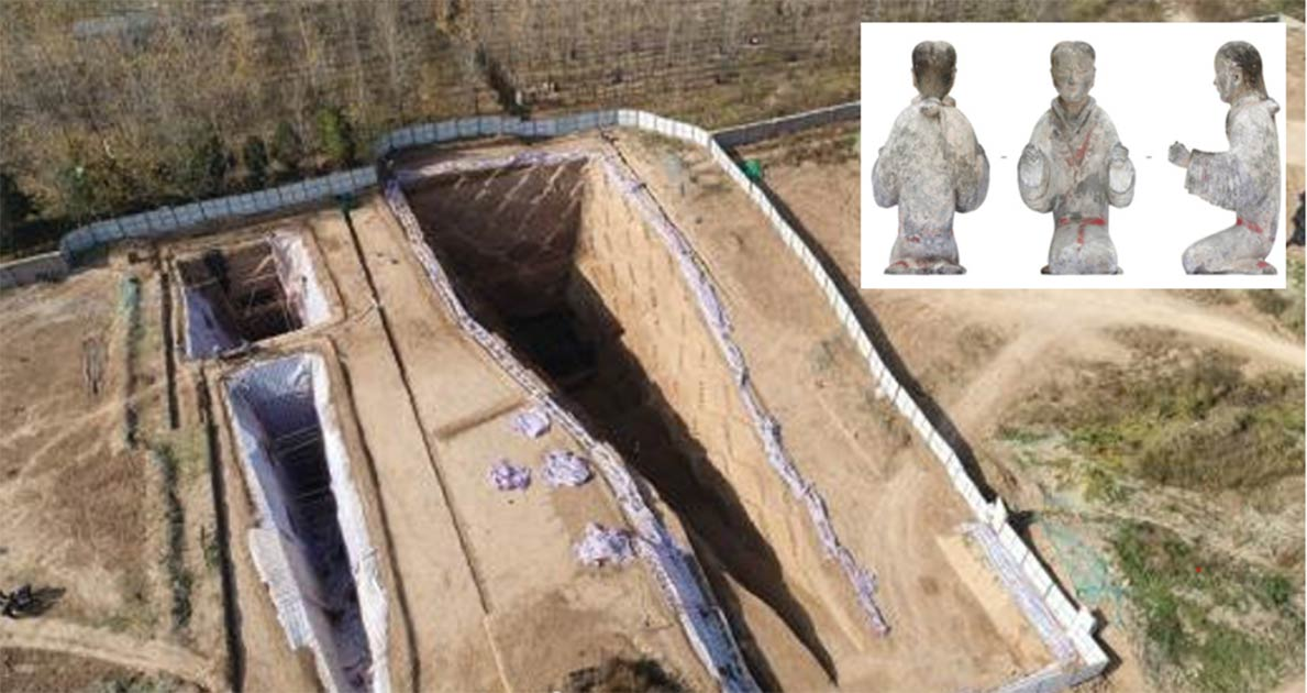 Archaeologists have found hoards of objects including ceramic figurines and jade clothing in an exciting discovery of Han period tombs. Source: Xi'an Institute of Cultural Relics and Archaeology / RT