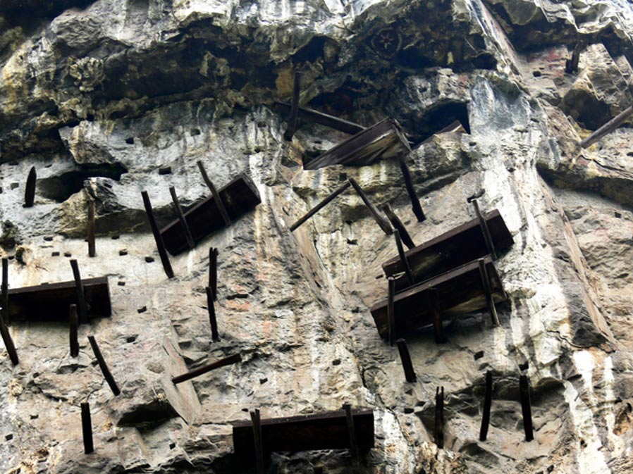 Hanging coffins of the Bo people in China