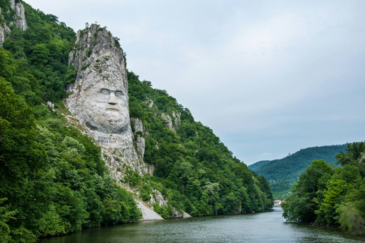 The Colossal Head of Decebalus, King of the Dacians