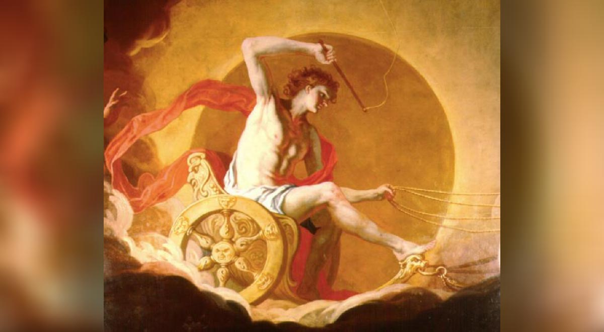 'Helios on His Chariot' (Detail) by Hans Adam Weissenkircher (17th century).