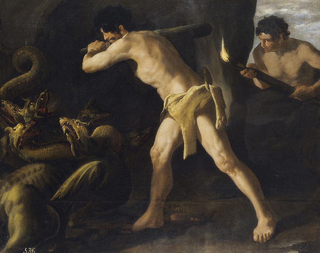 Hercules Fights the Hydra of Lerna, a painting by Francisco de Zurbarán