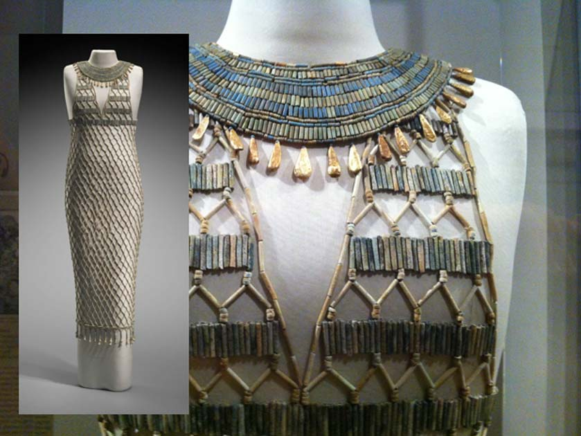 high fashion of ancient egypt the beadnet dress