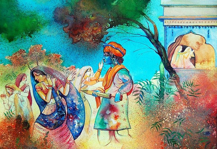 Calendar Holi : The mythological origins of holi ancient and colorful