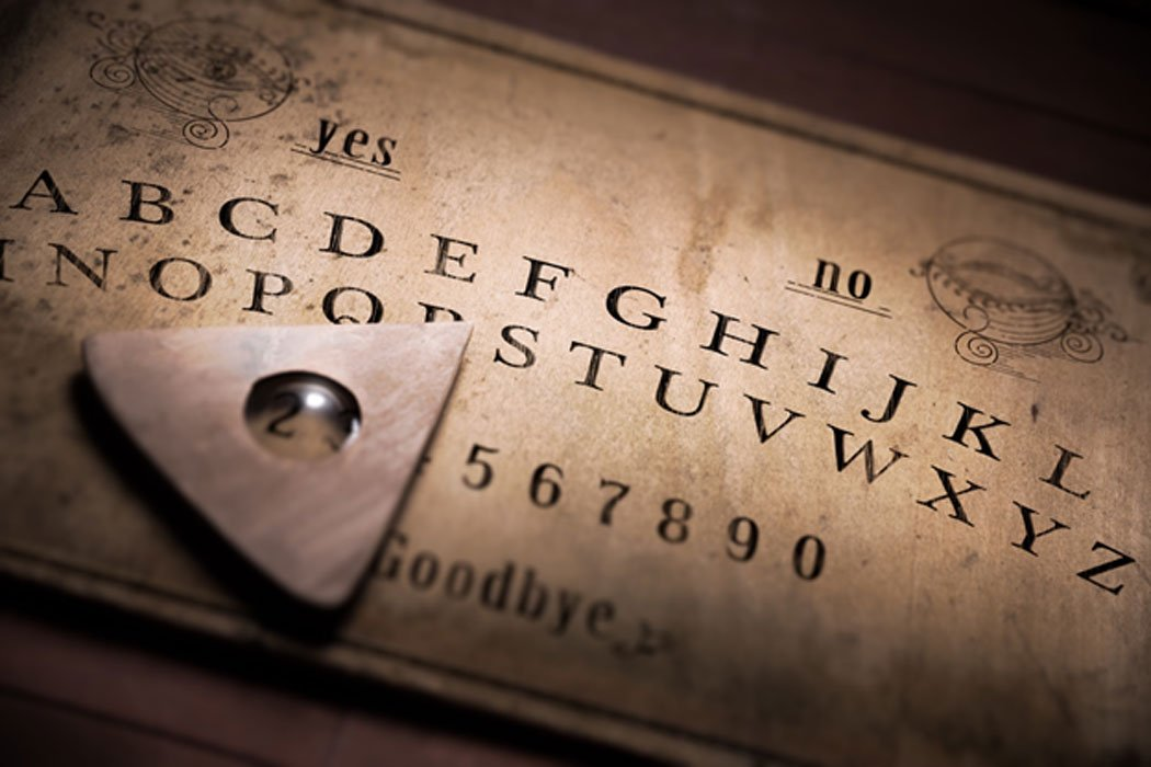 Ouija Board - talking board and planchette used on seances for communicating with the dead.