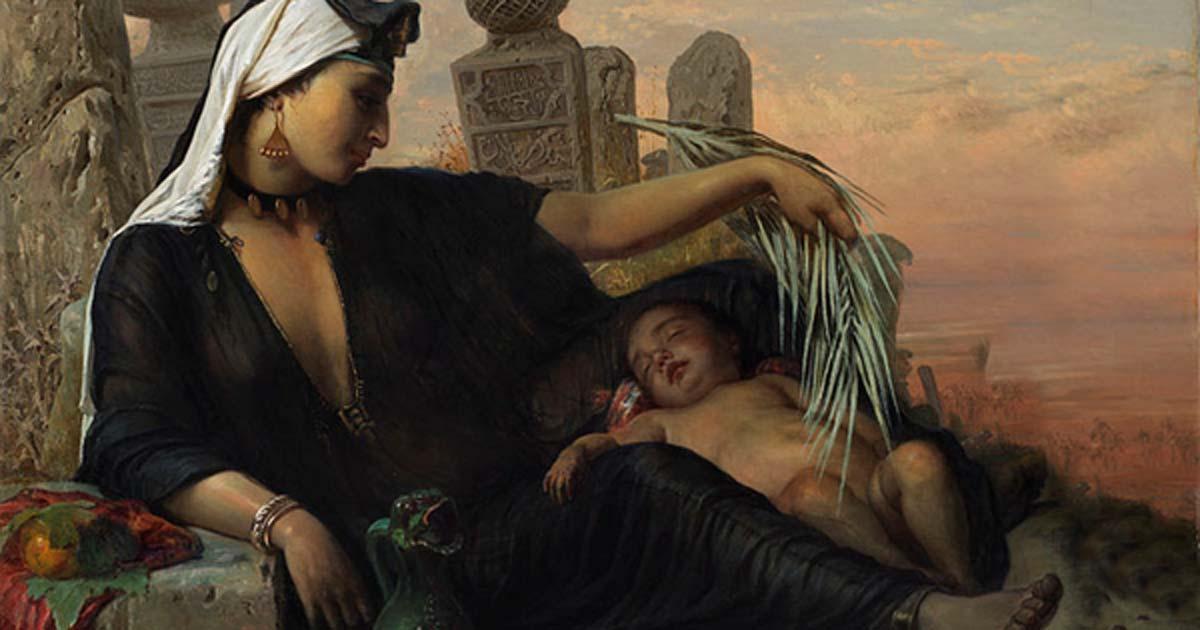 Egyptian Fellah woman with her child, Elisabeth Jerichau-Baumann, 1872