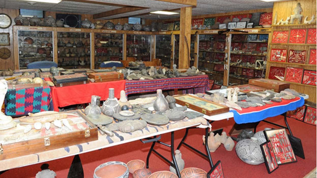 Pottery and metal artifacts.