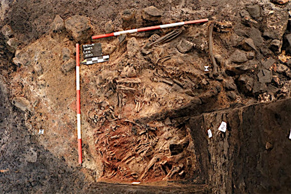 Human sacrifice remains found in South Moravia, Czech Republic.      Source: Archaia Brno