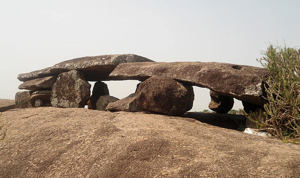 Indian archaeologists are excavating several Iron Age sites of ancient burial grounds in the vicinity of Hyderabad. This is one of the world's largest dolmens, in Andhra Pradesh