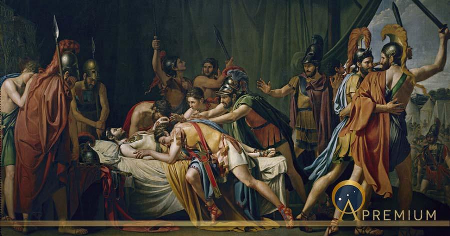 José de Madrazo's painting of the death of Viriathus (Public Domain)
